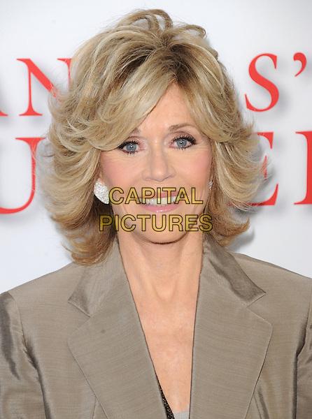Jane Fonda<br /> &quot;Lee Daniels' The Butler&quot; Los Angeles Premiere held at Regal Cinemas L.A. Live, Los Angeles, California, USA.        <br /> August 12th, 2013    <br /> headshot portrait beige blazer<br /> CAP/DVS<br /> &copy;DVS/Capital Pictures