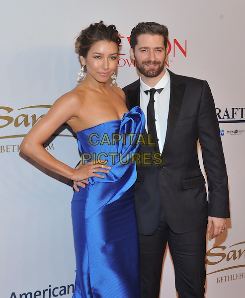 New York,NY-November 2: Matthew Morrison, Renee Puente attend Elton John AIDS Foundation's 14th Annual An Enduring Vision Benefit at Cipriani Wall Street on November 2, 2015 in New York City.. <br /> CAP/MPI/STV<br /> &copy;STV/MPI/Capital Pictures