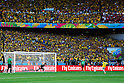 Claudio Bravo (CHI), Neymar (BRA),<br /> JUNE 28, 2014 - Football / Soccer :<br /> Neymar of Brazil scores his penalty shoot out during the FIFA World Cup Brazil 2014 Round of 16 match between Brazil 1(3-2)1 Chile at Estadio Mineirao in Belo Horizonte, Brazil. (Photo by D.Nakashima/AFLO)