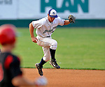 7 July 2008: Vermont Lake Monsters' infielder Nick Arata makes a play at second against the Batavia Muckdogs at Centennial Field in Burlington, Vermont. The Lake Monsters defeated the Muckdogs 3-2 in the final game of their 3-game series...Mandatory Photo Credit: Ed Wolfstein Photo
