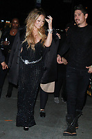 NEW YORK, NY - OCTOBER 23: Mariah Carey , Bryan Tanaka  arriving to the V Magazine Dinner in honor of Karl Lagerfeld at the Standard High Line in New York City on October 23, 2017. Credit: RW/MediaPunch /NortePhoto.com