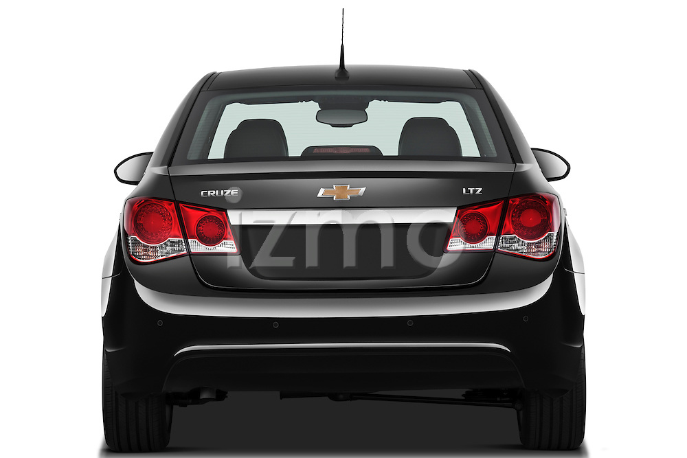 Straight rear view of a 2011 Chevrolet Cruze