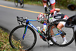 Eri Yonamine (JPN),<br /> AUGUST 7, 2016 - Cycling :<br /> Eri Yonamine of Japan has a problem with her bicycle chain in the Women's Road Race during the Rio 2016 Olympic Games in Rio de Janeiro, Brazil. (Photo by Yuzuru Sunada/AFLO)