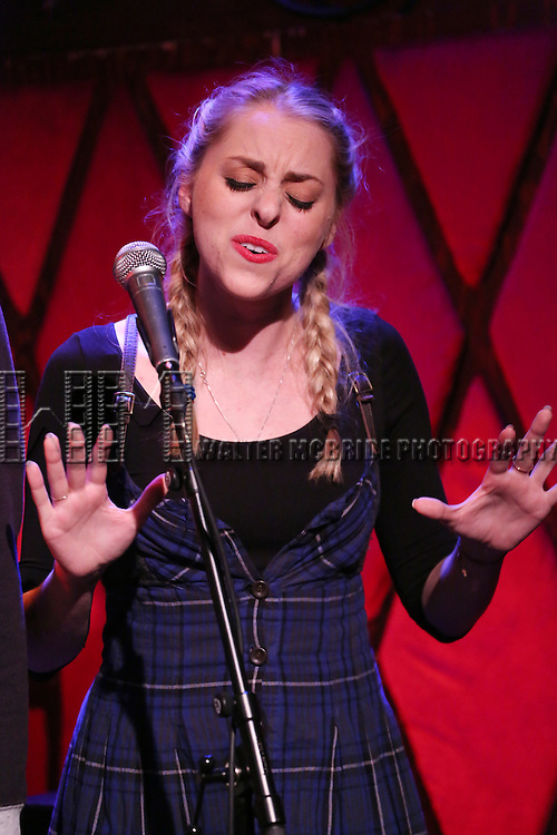 Chase O'Donnell from the cast of 'One Day - The Musical' performing a sneak peek of the new pop-rock Musical at Rockwood Music Hall on January 28, 2015 in New York City.