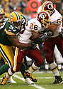 CLINTON PORTIS, of the Washington Redskins , in action during the Redsins games against the Green Bay Packers, in Green Bay, Wisconsin on October 14, 2007.  ..The Packers won the game 17-14...COPYRIGHT / SPORTPICS..........