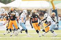 September 7, 2009; Hamilton, ON, CAN; Hamilton Tiger-Cats linebacker Jamall Johnson (28). CFL football - the Labour Day Classic - Toronto Argonauts vs. Hamilton Tiger-Cats at Ivor Wynne Stadium. The Tiger-Cats defeated the Argos 34-15. Mandatory Credit: Ron Scheffler.