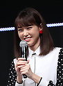 January 18, 2017, Tokyo, Japan - Japanese actress Mirei Kiritani speaks after she performed dansing with Japanese singer-songwriter Pikotaro for a promotion of Japanese mobile communication service Y!mobile, a subsidiary of Japanese telecom giant Softbank in Tokyo on WEdnesday, January 18, 2017. Pikotaro announced he would have a concert at Tokyo's Budokan Hall in March.   (Photo by Yoshio Tsunoda/AFLO) LWX -ytd