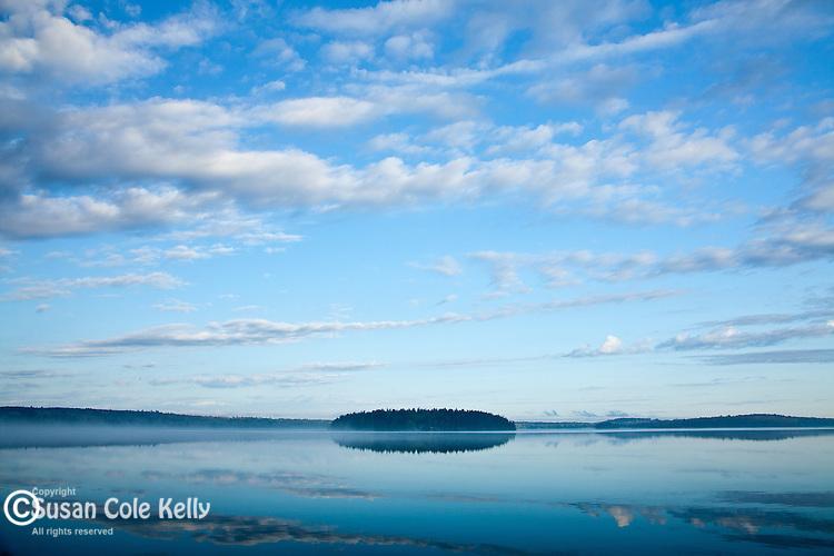 Morning clouds on Taunton Bay, Sullivan, ME, USA