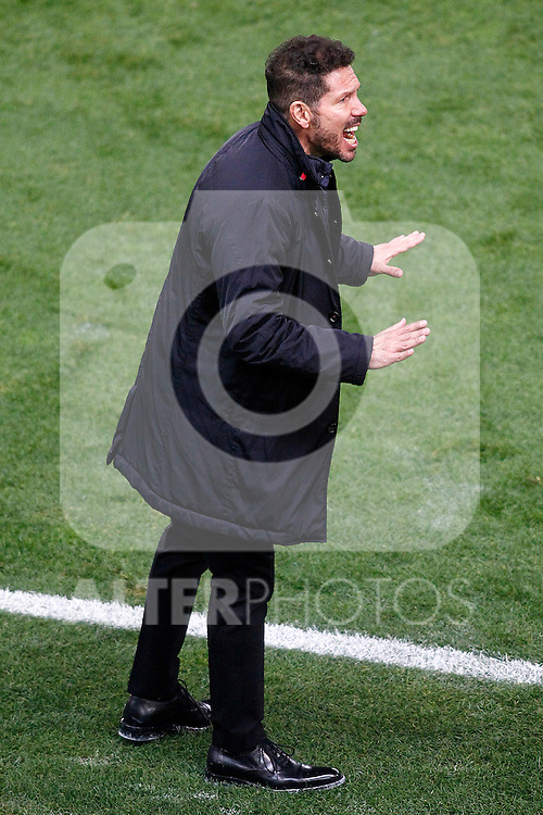 Atletico de Madrid's coach Diego Pablo Cholo Simeone during La Liga match. November 19,2016. (ALTERPHOTOS/Acero)