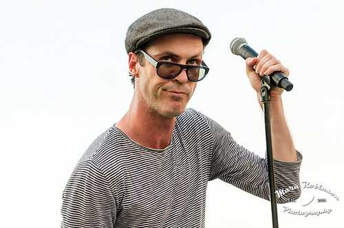 Michael Fitzpatrick, Fitz and the Tantrums, by Akron and Cleveland Music Photographer, Portrait Photographer and Event Photographer Mara Robinson, Mara Robinson Photography. At Rock and Roll Hall of Fame.