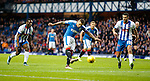 James Tavernier cracks the ball off the post