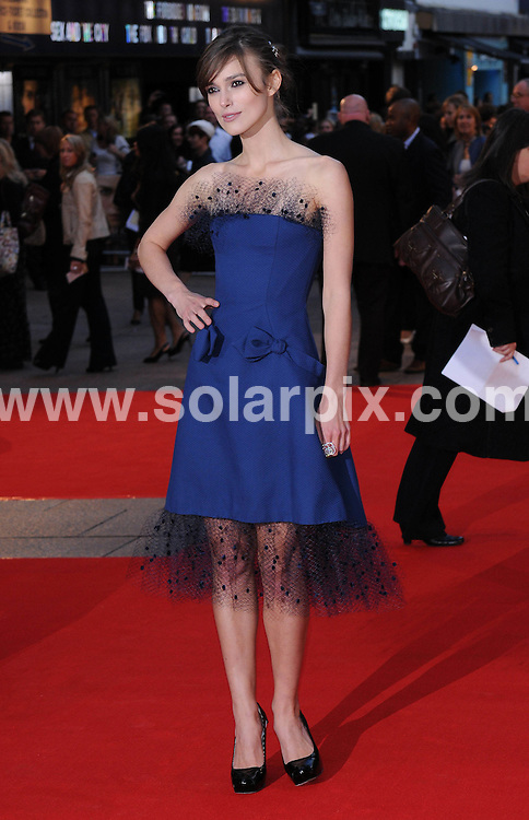 **ALL ROUND PICTURES FROM SOLARPIX.COM**.**WORLDWIDE SYNDICATION RIGHTS**.The world premiere of her latest movie The Duchess in London's Leicester Square this evening...This Pic:Keira_Knightley..JOB REF: 7191      SSD     DATE:03.09.08.**MUST CREDIT SOLARPIX.COM OR DOUBLE FEE WILL BE CHARGED* *UNDER NO CIRCUMSTANCES IS THIS IMAGE TO BE REPRODUCED FOR ANY ONLINE EDITION WITHOUT PRIOR PERMISSION*