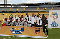 BOGOTÁ -COLOMBIA, 15-01-2015. Jugadores del Union posan para una foto previo al encuentro entre Deportivo Pereira y Union Magdalena por la fecha 1 de los cuadrangulares de ascenso Liga Aguila 2015 jugado en el estadio El Campín de la ciudad de Bogotá./ Players of Union pose to a photo prior the match between Deportivo Pereira and Union Magadalena for the first date of the promotional quadrangular Aguila League 2015 played at El Campin stadium in Bogotá city. Photo: VizzorImage/ Gabriel Aponte / Staff