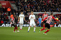 Pictured: Jay Fulton of Swansea (C) Sunday 01 February 2015<br /> Re: Premier League Southampton v Swansea City FC at St Mary's Ground, Southampton, UK.