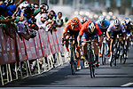 Sonny Colbrelli (ITA) Bahrain-Merida outsprints Greg Van Avermaet (BEL) CCC Team to win Stage 4 of 10th Tour of Oman 2019, running 131km from Yiti (Al Sifah) to Oman Convention and Exhibition Centre, Oman. 19th February 2019.<br /> Picture: ASO/P. Ballet | Cyclefile<br /> All photos usage must carry mandatory copyright credit (&copy; Cyclefile | ASO/P. Ballet)