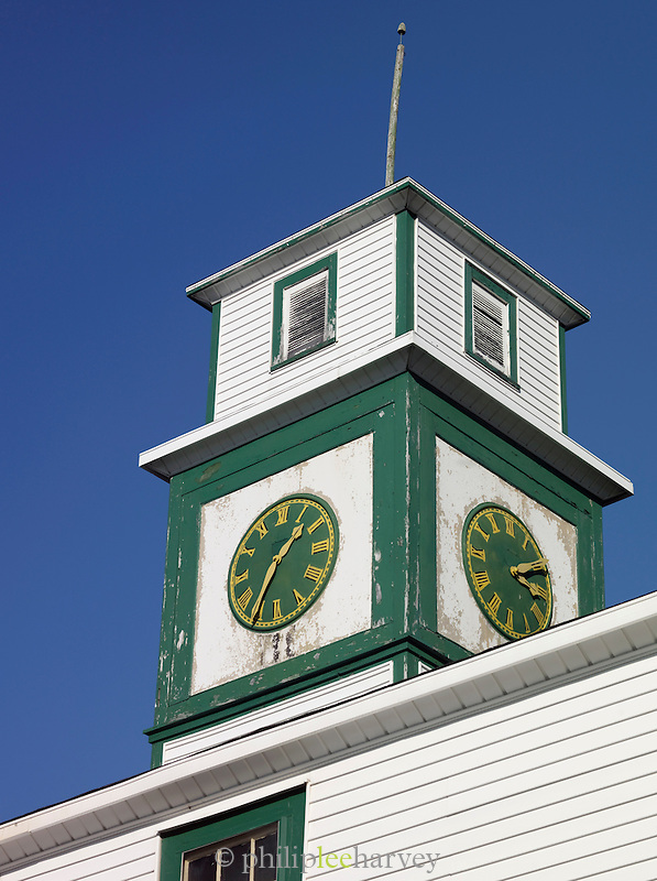 The local town clocktower at St Anthony, Newfoundland and Labrador, Canada