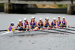 28 MAY 2011: Williams College I celebrates their victory following the Grande Eights Final during the 2011 NCAA Division III Women's Rowing Championship hosted by Washington State University held at the Sacramento State Aquatic Center in Gold River, CA. Williams I placed 1st in the race to win the national title. Brett Wilhelm/NCAA Photos