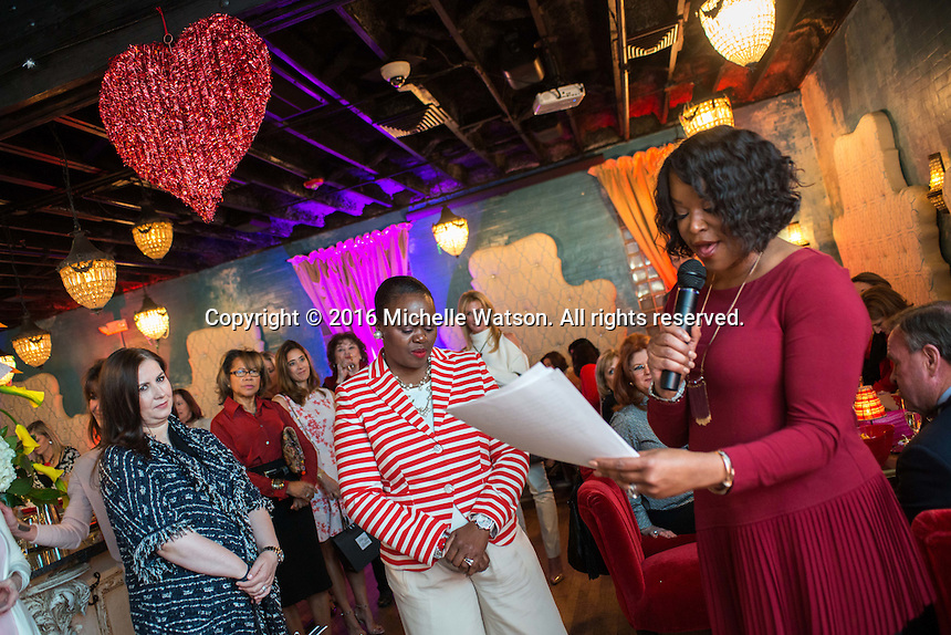 Houston Sweethearts Valentine's Day celebration at Corner Table