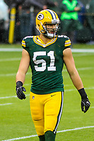 Green Bay Packers linebacker Kyler Fackrell (51) during a National Football League game against the New Orleans Saints on October 22, 2017 at Lambeau Field in Green Bay, Wisconsin.  New Orleans defeated Green Bay 26-17. (Brad Krause/Krause Sports Photography)