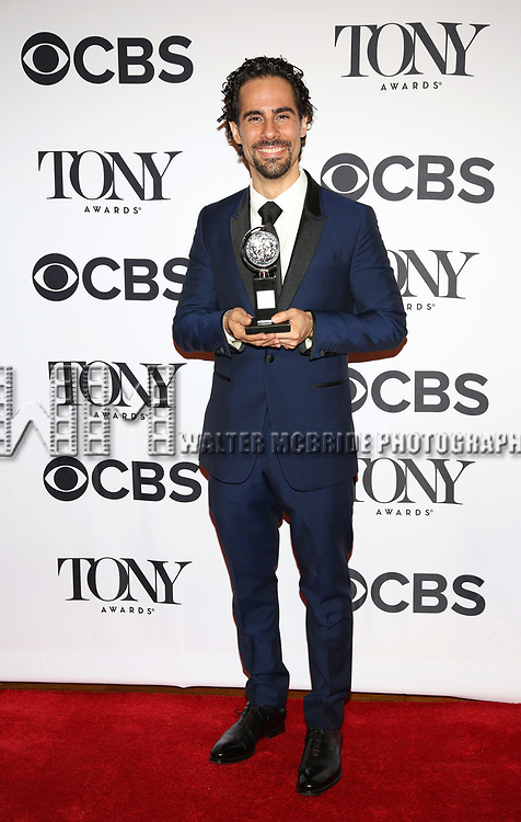 Alex Lacamoire poses at the 71st Annual Tony Awards, in the press room at Radio City Music Hall on June 11, 2017 in New York City.