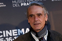 Rome April 9th 2019. Actor Jeremy Irons poses for photographers during the presentation of the film documentary Bicentennial of the The Museum of Prado in Madrid.<br /> photo di Samantha Zucchi/Insidefoto