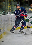 21 November 2017: University of Connecticut Huskies forward Evan Wisocky in first period action against the University of Vermont Catamounts at Gutterson Fieldhouse in Burlington, Vermont. The Huskies defeated the Catamounts 4-1 in Hockey East play. Mandatory Credit: Ed Wolfstein Photo *** RAW (NEF) Image File Available ***