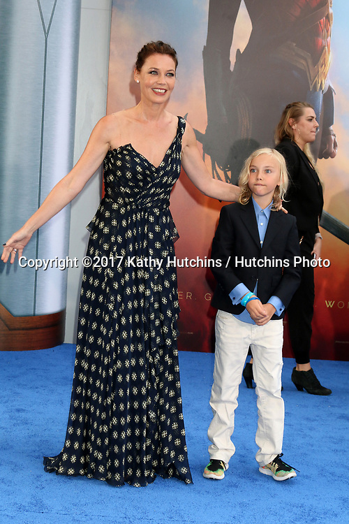 "LOS ANGELES - MAY 25:  Connie Nielsen, Bryce Thadeus Ulrich-Nielsen at the ""Wonder Woman"" Los Angeles Premiere at the Pantages Theater on May 25, 2017 in Los Angeles, CA"