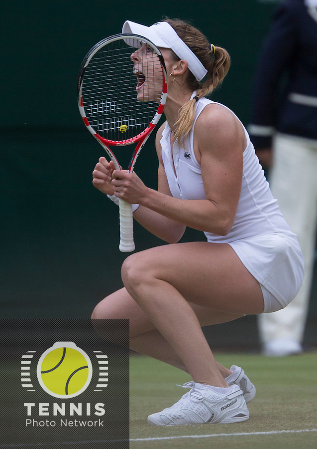 ALISON RISKE (USA)<br /> <br /> The Championships Wimbledon 2014 - The All England Lawn Tennis Club -  London - UK -  ATP - ITF - WTA-2014  - Grand Slam - Great Britain -  28th June 2014. <br /> <br /> © Tennis Photo Network
