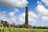 MAURITIUS, hundreds of old sugar cane refinery smokestacks are left as a reminder of the  once bustling sugarcane industry