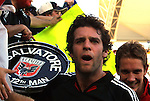 14 November 2004: Ben Olsen (center) and Troy Perkins (right) celebrate with the fans after the game. DC United defeated the Kansas City Wizards 3-2 to win MLS Cup 2004, Major League Soccer's championship game at the Home Depot Center in Carson, CA...