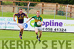 Chase on<br /> -------------<br /> Thomas Hickey races away from Wexfords Aaron Maddock to set up Kerry's 2nd goal when the sides met in Dungarvan last Saturday