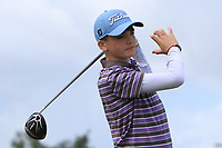 Thomas Harte (Castle) on the 14th tee during the Final round in the Connacht U16 Boys Open 2018 at the Gort Golf Club, Gort, Galway, Ireland on Wednesday 8th August 2018.<br /> Picture: Thos Caffrey / Golffile