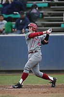 Cory Meyer (8) of the Washington State Cougars bats against the Loyola Marymount Lions at Page Stadium on February 26, 2017 in Los Angeles, California. Loyola defeated Washington State, 7-4. (Larry Goren/Four Seam Images)