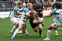 Sunday 19 October 2014<br /> Pictured: Ospreys' Dan Baker gets held up short of the try-line.<br /> Re: Ospreys v Treviso, Heineken Champions Cup at the Liberty Stadium, Swansea