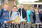 Junior Cert sutdents from CBS The Green, Tralee with their results on Wednesday, From Left: John Hayes, Kieran Flanagan, Micheal o Leary, Michael Walsh, Dominck Horgan,