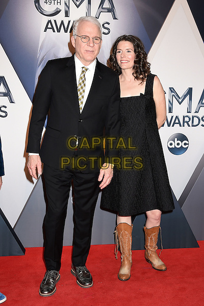 4 November 2015 - Nashville, Tennessee - Steve Martin, Edie Brickell. 49th CMA Awards, Country Music's Biggest Night, held at Bridgestone Arena. <br /> CAP/ADM/LF<br /> &copy;LF/ADM/Capital Pictures
