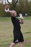 Peter Sohn (Rüsselsheim Crusaders) wirft den Ball