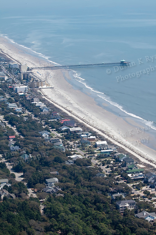 Folly Beach Pier South Carolina Aerial Photography