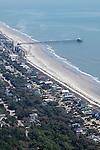 Folly Beach Pier South Carolina Aerial Photography