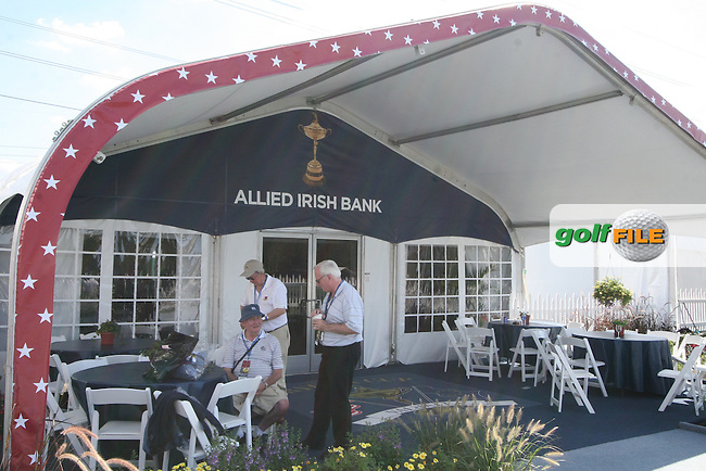 The AIB corporate tent at The 37th Ryder cup from Valhalla Golf Club in Louisville, Kentucky....Photo: Fran Caffrey/www.golffile.ie.