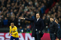 Massimiliano Allegri Head Coach of Juventus <br /> <br /> Photographer Craig Mercer/CameraSport<br /> <br /> UEFA Champions League Round of 16 Second Leg - Tottenham Hotspur v Juventus - Wednesday 7th March 2018 - Wembley Stadium - London <br />  <br /> World Copyright &copy; 2017 CameraSport. All rights reserved. 43 Linden Ave. Countesthorpe. Leicester. England. LE8 5PG - Tel: +44 (0) 116 277 4147 - admin@camerasport.com - www.camerasport.com