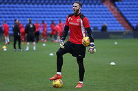 Fleetwood Town's Chris Neal during the pre-match warm-up ahead of the Sky Bet League 1 match between Oldham Athletic and Fleetwood Town at Boundary Park, Oldham, England on 26 December 2017. Photo by Juel Miah / PRiME Media Images.