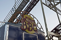 Luna BBQ is pictured in Coney Island's Luna Park in New York city borough of Brooklyn, Sunday July 31, 2011. The second incarnation of Luna Park opened on the former site of the nearby Astroland amusement park in 2010.