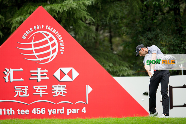Charl Schwartzel (RSA) on the 11th during the 1st round of the  WGC-HSBC Champions, Sheshan International GC, Shanghai, China PR.  27/10/2016<br /> Picture: Golffile | Fran Caffrey<br /> <br /> <br /> All photo usage must carry mandatory copyright credit (&copy; Golffile | Fran Caffrey)