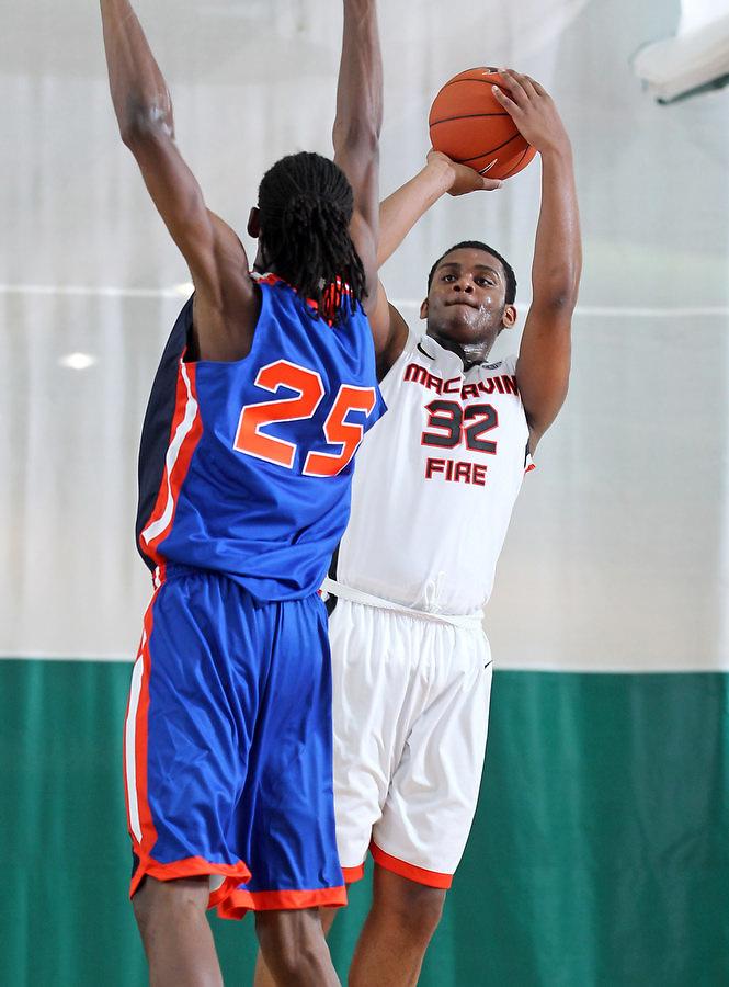 April 8, 2011 - Hampton, VA. USA; Thomas Hamilton participates in the 2011 Elite Youth Basketball League at the Boo Williams Sports Complex. Photo/Andrew Shurtleff