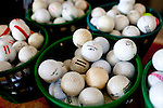 "Golf balls at the Augusta Municipal Golf Course, ""The Patch,"" on the day of the African American Golfers Tournament in Augusta, Georgia April 7, 2010."