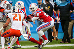 Louisiana Tech Bulldogs running back Jarred Craft (22) in action during the Heart of Dallas Bowl Bowl game between the Illinois Fighting Illini and the Louisiana Tech Bulldogs at the Cotton Bowl Stadium in Dallas, Texas. Louisiana defeats Illinois 35 to 18.