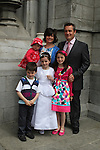 Orlaith Kearney with her family at the Scoil Aonghusa Communion 2011...(Photo credit should read Jenny Matthews www.newsfile.ie)....This Picture has been sent you under the conditions enclosed by:.Newsfile Ltd..The Studio,.Millmount Abbey,.Drogheda,.Co Meath..Ireland..Tel: +353(0)41-9871240.Fax: +353(0)41-9871260.GSM: +353(0)86-2500958.email: pictures@newsfile.ie.www.newsfile.ie.