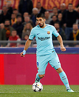 FC Barcelona Luis Suarez in action during the Uefa Champions League quarter final second leg football match between AS Roma and FC Barcelona at Rome's Olympic stadium, April 10, 2018.<br /> UPDATE IMAGES PRESS/Riccardo De Luca