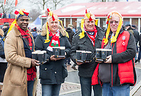 Fans enjoying the pre match atmosphere<br /> <br /> Photographer Bob Bradford/CameraSport<br /> <br /> NatWest Six Nations Championship - England v Wales - Saturday 10th February 2018 - Twickenham Stadium - London<br /> <br /> World Copyright &copy; 2018 CameraSport. All rights reserved. 43 Linden Ave. Countesthorpe. Leicester. England. LE8 5PG - Tel: +44 (0) 116 277 4147 - admin@camerasport.com - www.camerasport.com